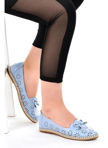 Ayakland Ayakland 139-45 Günlük Anatomik Bayan Babet Ayakkabı Mavi